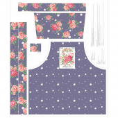 Poppy and Posey - Floral Apron Amethyst Panel