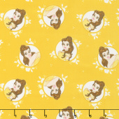 Disney Forever Princess - Belle in Circles in Gold Yardage
