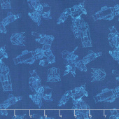 Transformers - Interstellar in Navy Yardage