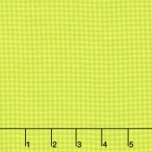 Local Color - Houndstooth Lime Yarn-Dyed Flannel Yardage