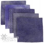 Blue Violet Wool Charm Pack