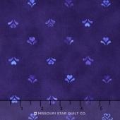 Daisy Blue - Hand Made Hearts Delft Yardage