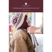 Woodland Winter Ear Flap Hat Knit Pattern by MSQC