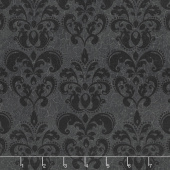 Raven's Claw - Damask Black Yardage