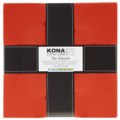 Kona Cotton 2018 Color of the Year - Tiger Lily Ten Squares