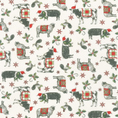 Homegrown Holidays - Farmyard Holiday Winter White Yardage