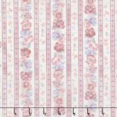 Woodside Blossom - Floral Stripes Vintage Yardage