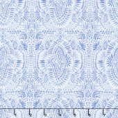 Indigo Rose - Medallion White Yardage