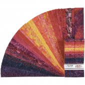Fiery Sunset Batiks Strips