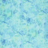 Calypso - Undersea Tonal Teal Digitally Printed Yardage