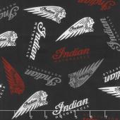 Indian Motorcycle - Logos Black Yardage
