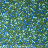 The Rainbow Fish - Seaweed Green Dark Blue Yardage