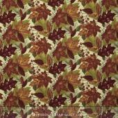 Country Road - Leaf Pile Spring Bud Yardage