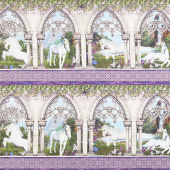 Unicorns - Unicorn Border Multi Yardage