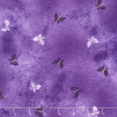 Pansy Noir - Butterfly Wash Purple Metallic Yardage