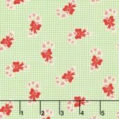Swell Christmas - Candy Cane Green Yardage