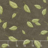 Fresh Off the Vine - Floating Leaves Earth Brown Yardage