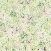 Humming Along - Succulents Green Yardage