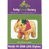 Georgie The Good Luck Elephant Funky Friends Factory Pattern