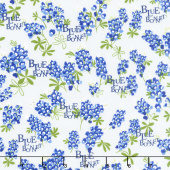 Bluebonnet Patch - Bluebonnet Ivory Yardage
