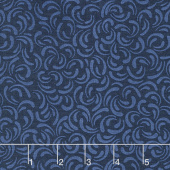 Wilmington Essentials - In the Navy Scattered Petals Navy on Navy Yardage