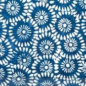 Tonga Batiks - Indigo Dreams Daisy Block Windsor Yardage