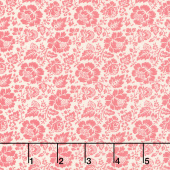 La Rose Rouge - Feligonde Pearl Faded Red Yardage