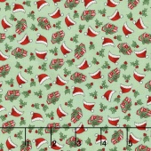 Kewpie Christmas - Christmas Ditzy Green Yardage