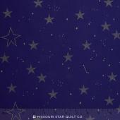 Magic - Lucky Stars Navy Metallic Yardage