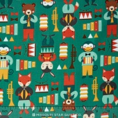 Party Animals - Party Animals Green Yardage
