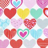 Big Love - Big Hearts White/Pink Yardage