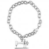 Sewing Machine Charm Bracelet - Silver