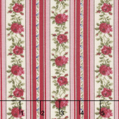Red & Blue...and Roses Too! - Rose Ribbons Red Yardage