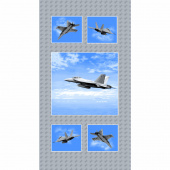 Air Show - Fighter Jet Blue Gray Panel