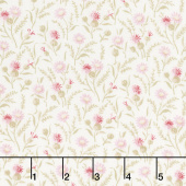 Rhapsody In Reds - Tiny Wildflowers Ivory Yardage