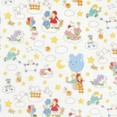 Storybook Sleepytime - Dream Clouds Cream Yardage