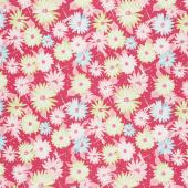 Paper Daisies - Main Dark Pink Yardage
