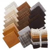Woolies Flannel Neutral Fat Quarter Bundle