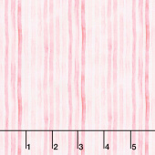 Love Letters - Watercolor Stripe Rose Yardage