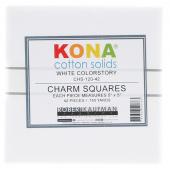 Kona Cotton - White Charm Pack