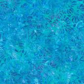 Artisan Batiks - Garden Style Flowers Teal Yardage