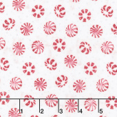 Cuppa Cocoa - Peppermint Toss Cream Yardage