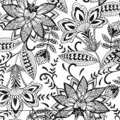 Kinfolk - Fun Floral White Yardage