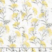 Marguerite - Button Flower Vanilla Yardage