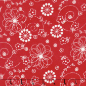 Lil' Sprout Too! - Doodles Soft Red Flannel Yardage