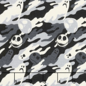 Jack is Back - Tim Burton's The Nightmare Before Christmas Ghostly Slate Yardage