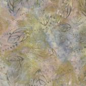 Sunset Strip Batiks - Floating Leaves Multi Yardage