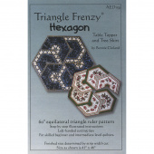 Triangle Frenzy® Hexagon Table Topper Pattern