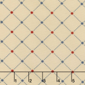 Star & Stripe Gatherings - Star Grid Tan Yardage