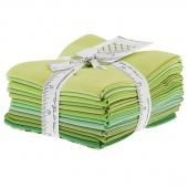 The Colors of Moda - Greens Fat Quarter Bundle